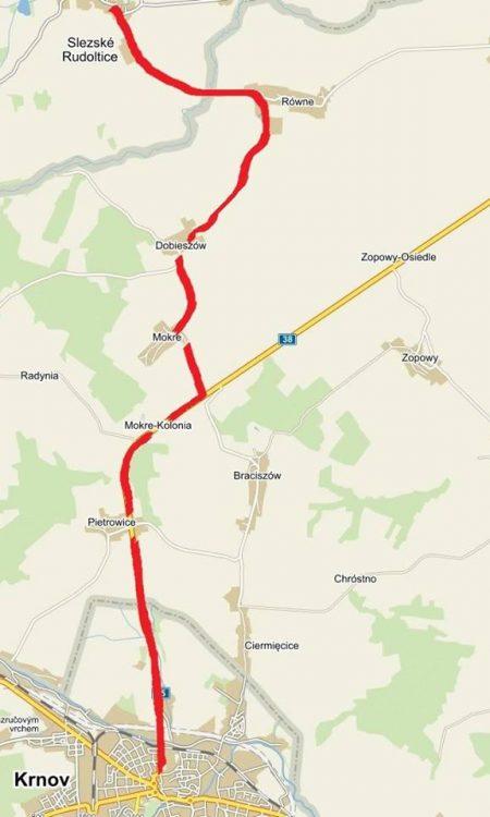 trasa přes Polsko